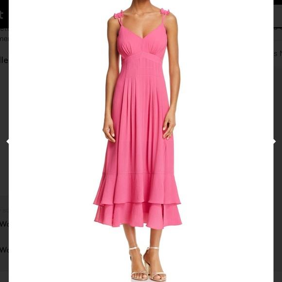 d8b97d618a NWT Nanette Lepore Pink Midi Dress size 6